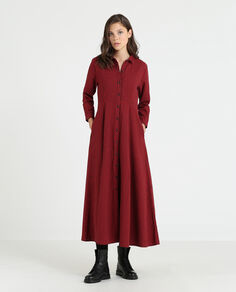 W'S Flannel Check Dress