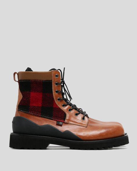 Wool Check Jungle Boot
