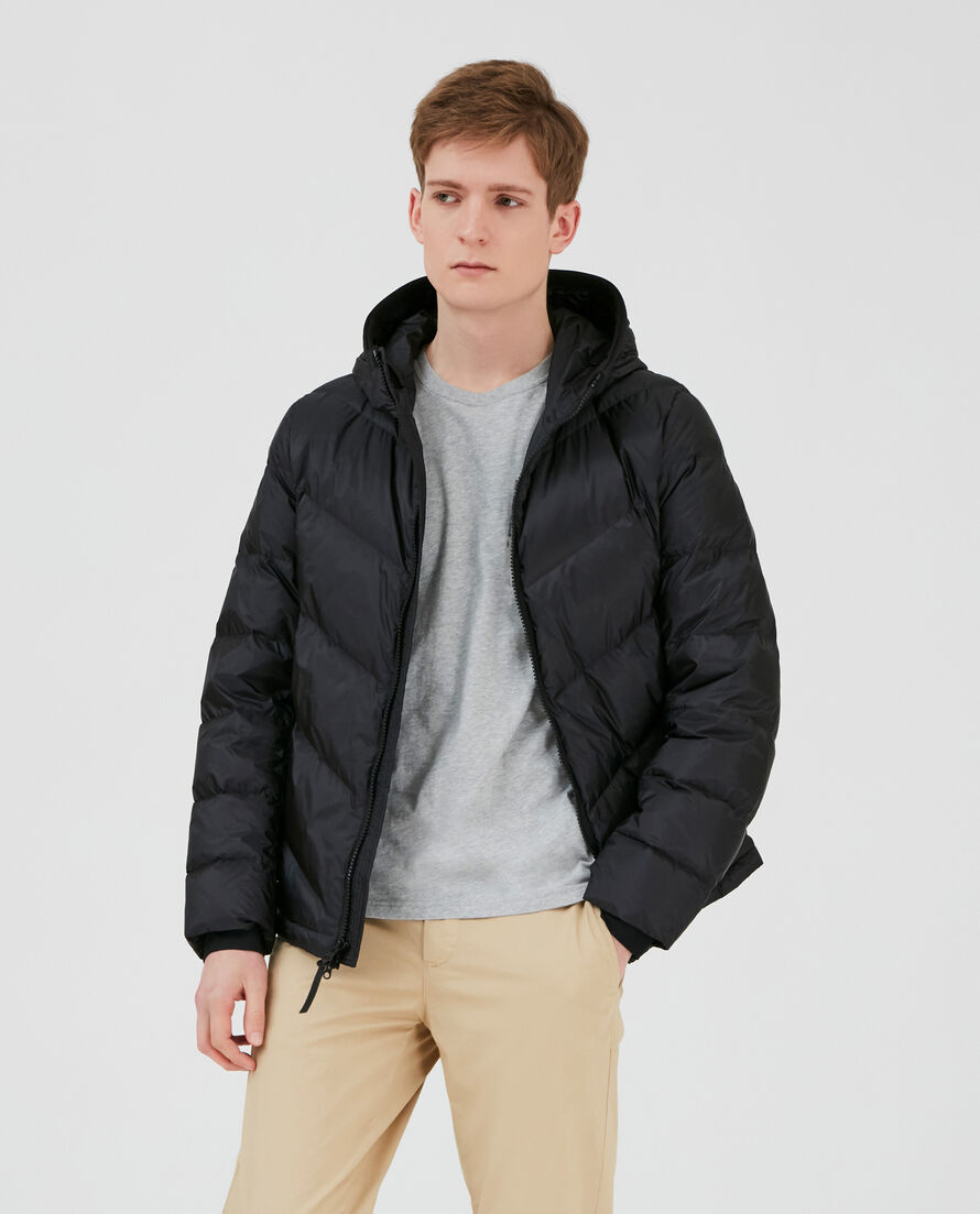 Chevron Hooded Jkt