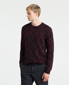 Printed Yarn Sweater
