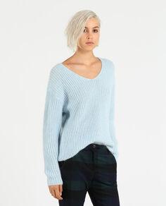 W'S V-Neck Cozy Sweater