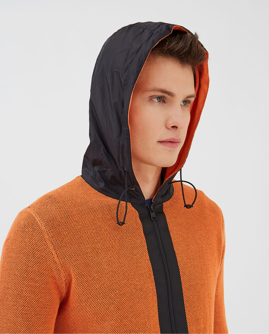 Texture Cotton Fz Hoodie