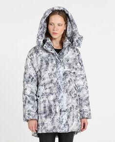 W'S Printed Aurora Puffy Coat