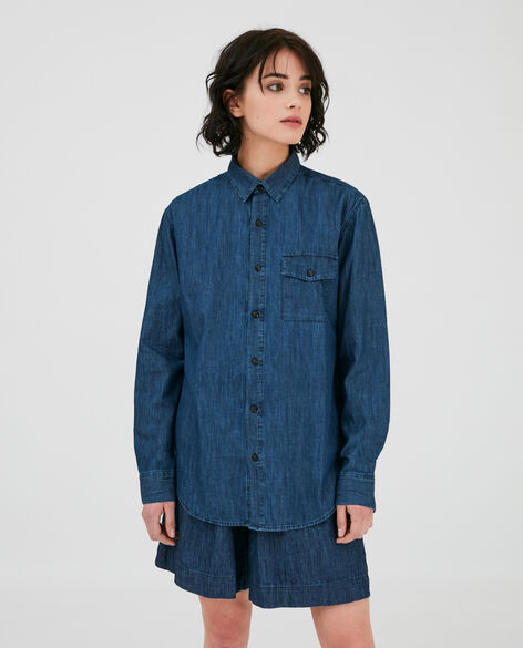 W'S Denim Chambray Shirt