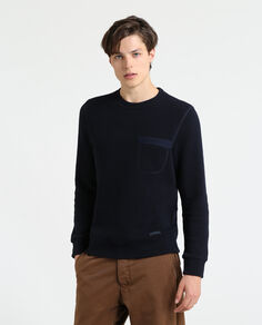Light Wool Cotton Crew Neck