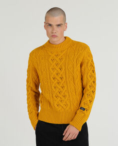 Fisherman Knit High Crew Neck